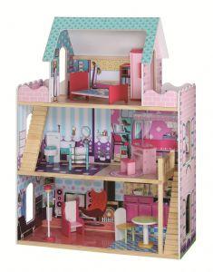 wooden dollshouse, mansion dollhouse, glamour dollshouse