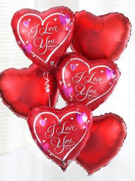 valentines balloons, pesonalised balloons