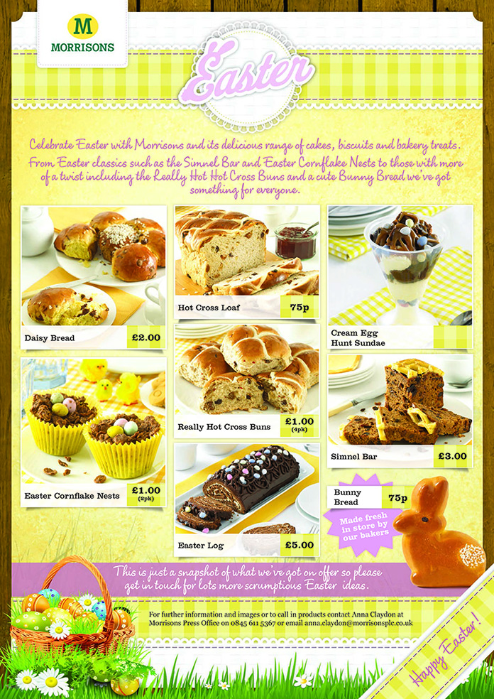 Win a delicious easter hamper of baked goods from morrisons baby pin negle Gallery