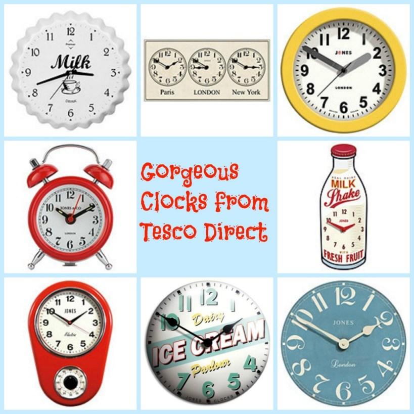 clocks from Tesco