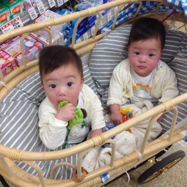 双子用ベビーカー(乳母車)
