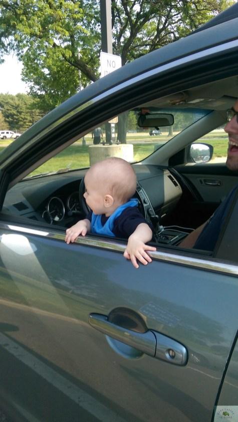 Road Trip Aiden in Car