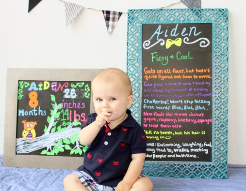 Aiden with 8 month boards
