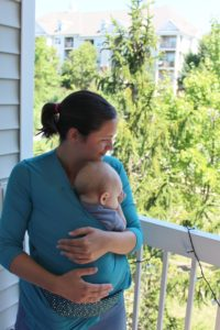 Baby wearing Nuroo Pocket