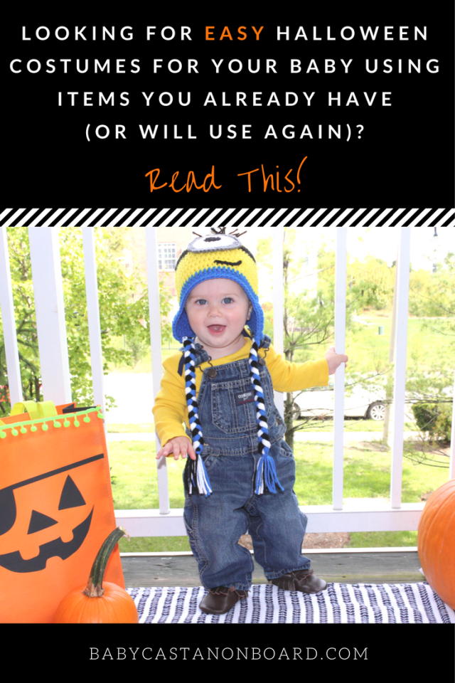 An easy Halloween costume is a must for babies. Here are ideas for cute and easy costumes with reusable pieces that your baby will be able to wear again.