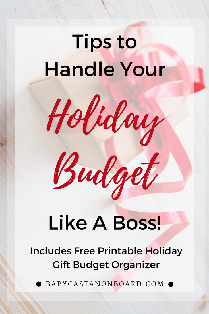 The holidays can be super stressful when it comes to money. Here are some simple ideas to help you stick to your holiday budget. #holiday #momlife #gift #christmas #money
