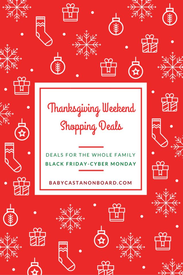 There is still plenty of time for shopping the holiday weekend deals. This is a roundup of gifts for the whole family from Black Friday-Cyber Monday.