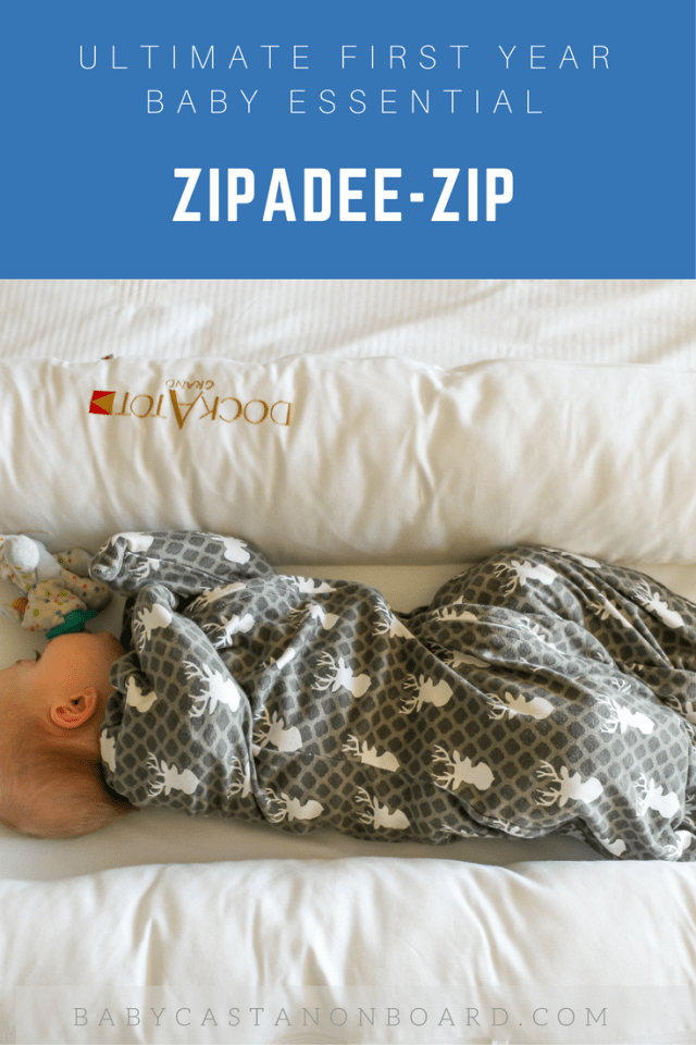 I am sharing my ultimate first-year essentials. First up, the Zipadee-zip a baby swaddle transition option by Sleeping Baby.