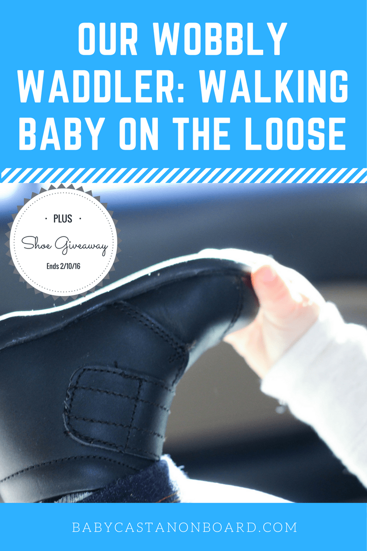This post includes useful information about baby walking and baby shoes, and a giveaway from one of our favorite baby shoe companies, Wobbly Waddlers!