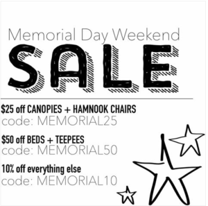 A Childs Nook Memorial Day Sale