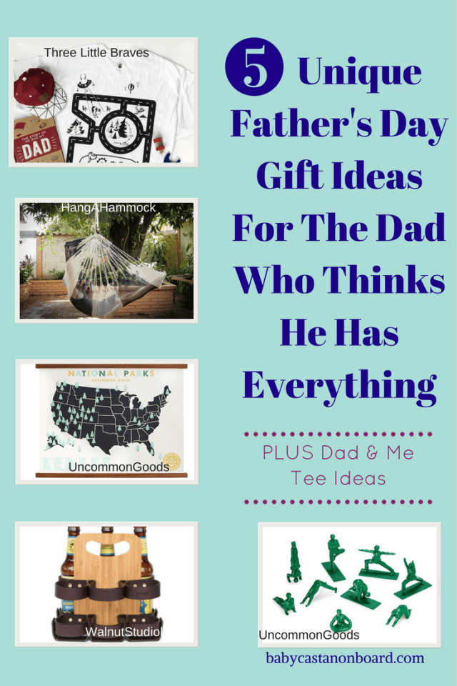 Here are my 5 favorite Father's Day gift ideas for the toddler dad who thinks he has everything. Plus, daddy and me tee options to wear on Father's Day.