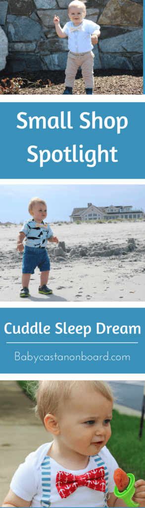 I love supporting small mama owned businesses and sharing them. I am spotlighting Cuddle Sleep Dream. They make special occasion outfits for boys with snap-on ties and bow ties.