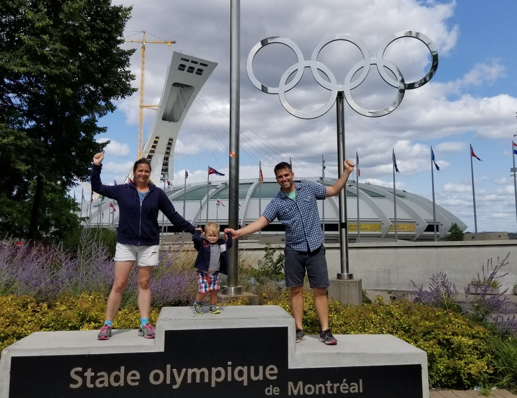 Montreal with a toddler-olympic-rings-babycastanonboard.com