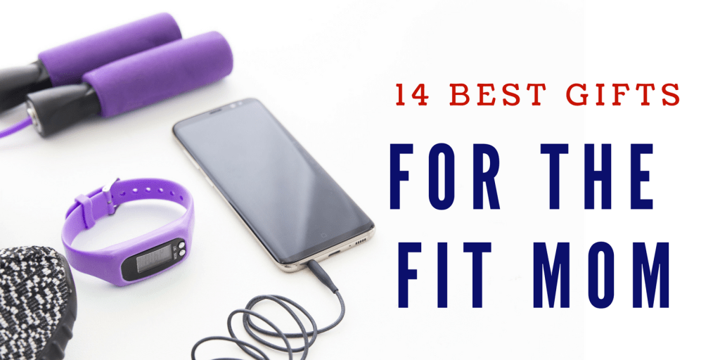 A roundup of the 14 best gifts for the fit mom -- both gear and clothes. These items will motivate and inspire the mom who loves to workout. #momlife #fitness #clothes #gear #holidays #gifts