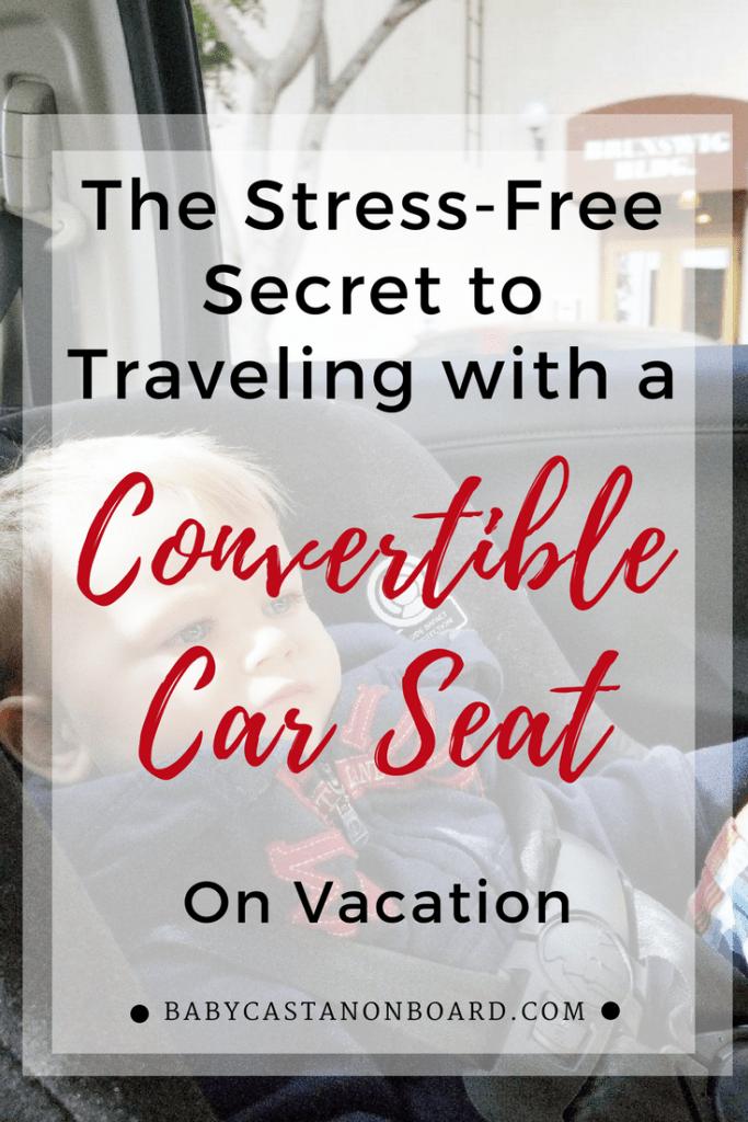 Convertible Car Seat Travel Pin