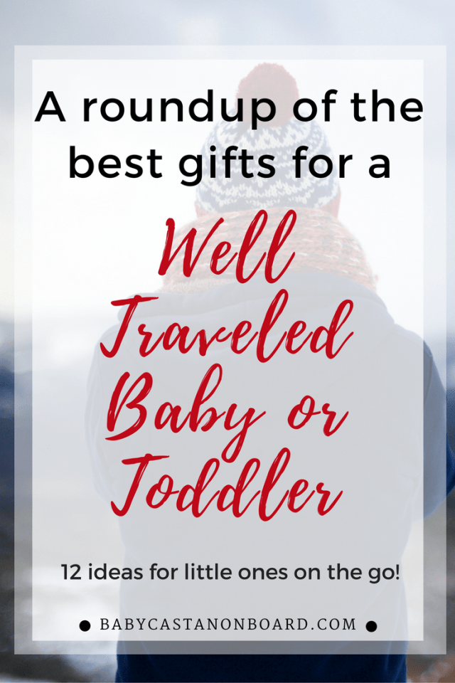 We love traveling with our toddler which inspired this gift guide of the best gifts for traveling babies and toddlers. You won't go wrong with any of these. #travel #products #toddler #baby #gifts #christmas #holiday