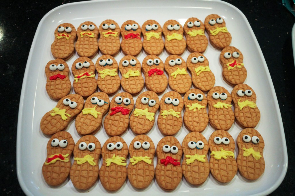 Dr. Seuss Themed Birthday Party-Nutterbutter with Lorax Faces