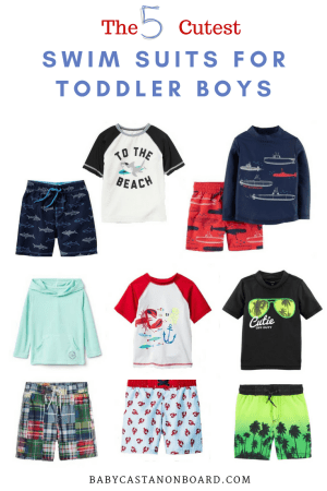 A round-up of the five cutest swim suits for summer by popular DC mommy blogger Baby Castan on Board