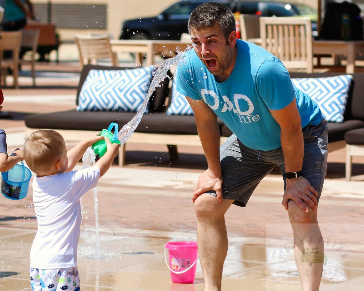 best splash pads in DC_One Loudoun Splash pad_toddler and dad_web