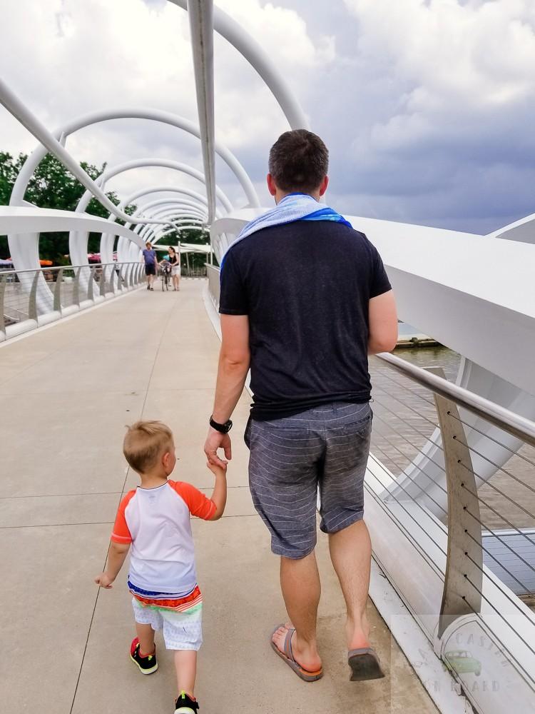 best splash pads in DC_The Yards Park_Walking on Bridge_web