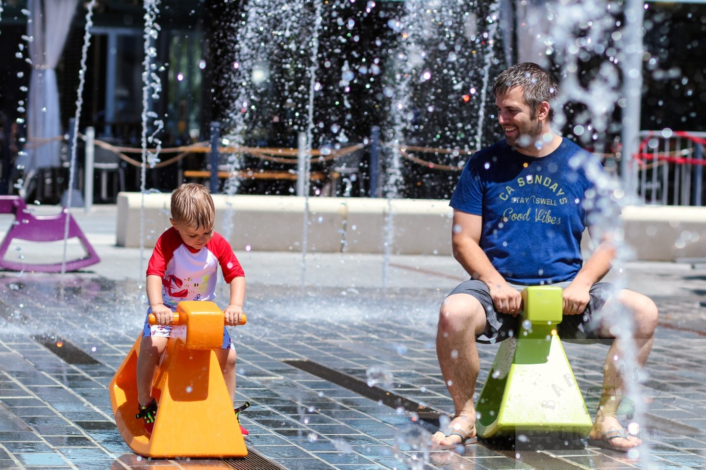 best splash pads in DC_Wharf Fountain dad and toddler_web