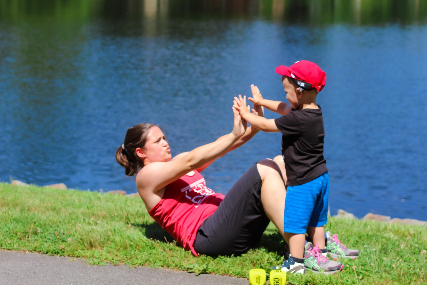 simple exercise dice workout that is perfect for busy moms of toddlers featured by popular DC mommy blogger Baby Castan on Board