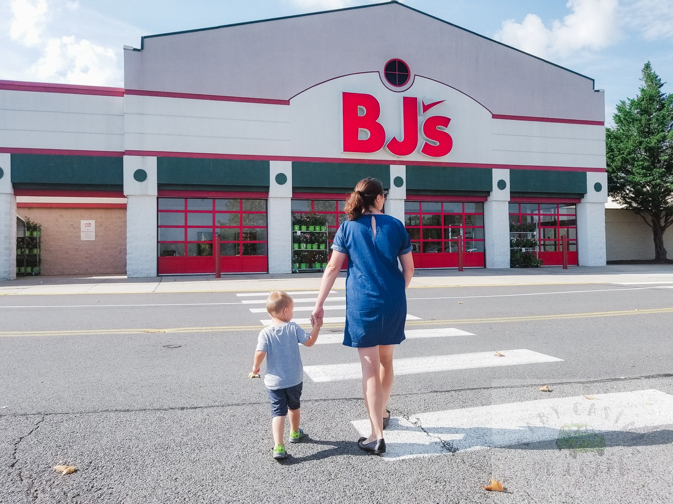 Bjs Wholesale_mom and toddler going to bjs