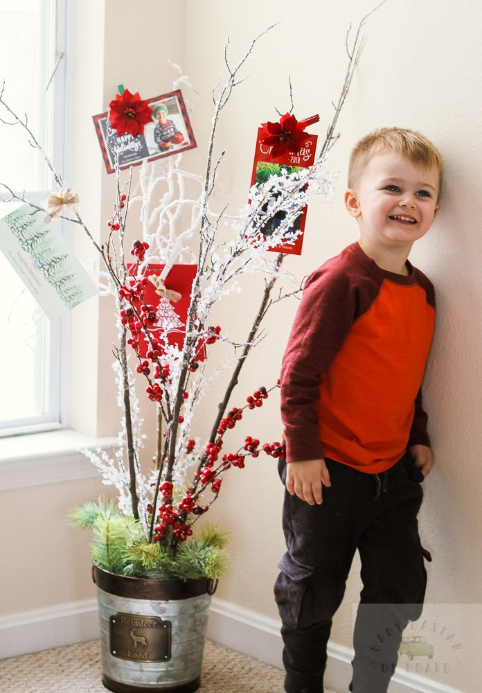 How To Make a DIY Christmas Card Holder Tree