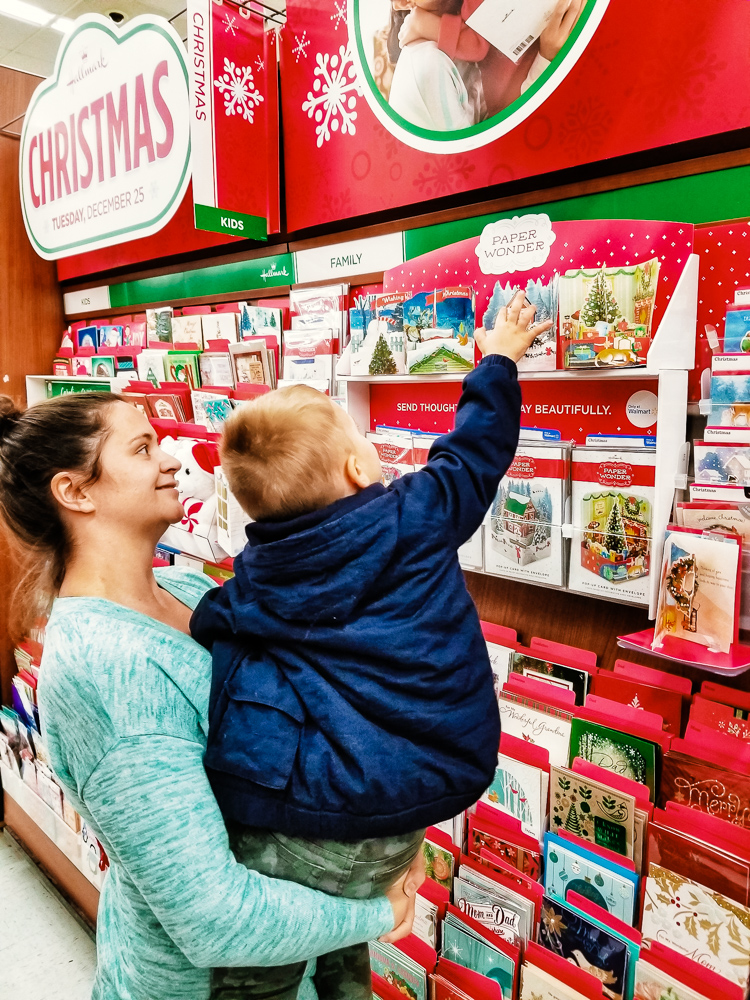 Hallmark Holiday Cards_toddler in Walmart