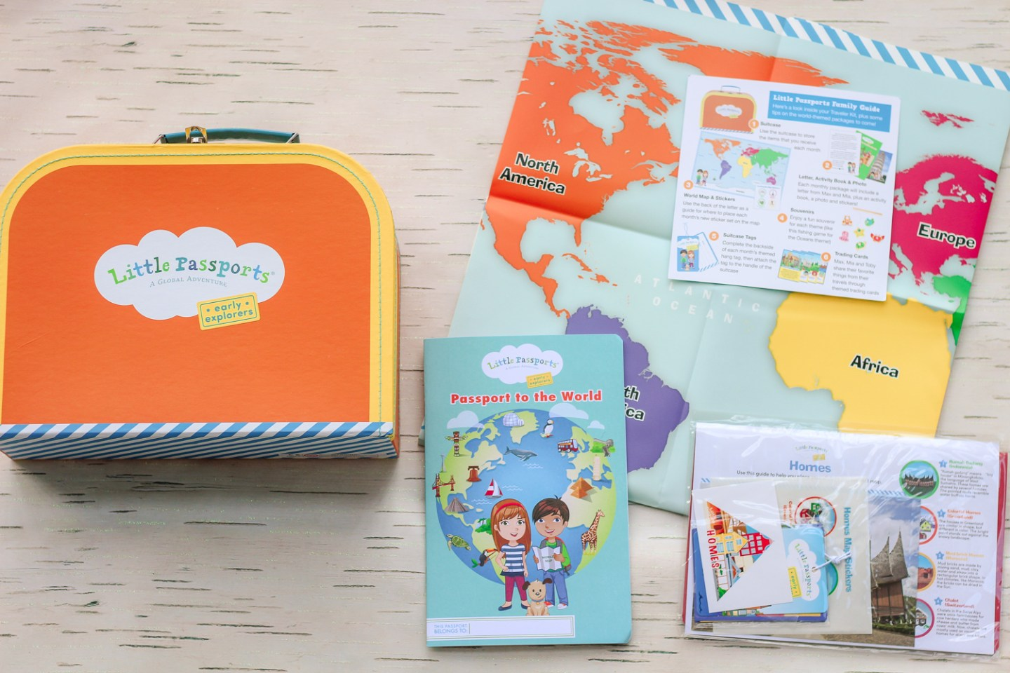 Top 3 Subscription boxes for toddlers, featured by top DC mommy blogger, Baby Castan on Board: little passports
