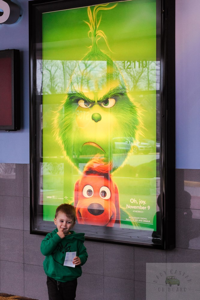 Tips for Taking Your Toddler to See The Grinch in Movie Theatres featured by top Washington DC mommy blog, Baby Castan on Board