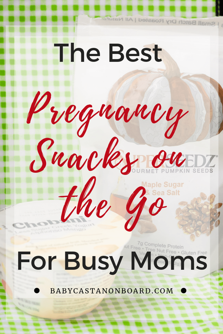 Baby Castan on Board, shares her favorite pregnancy snacks for moms on the go. Click here now to see them! Simple Pregnancy Snacks | High Protein Pregnancy Snacks | Pregnancy Snacks for Work