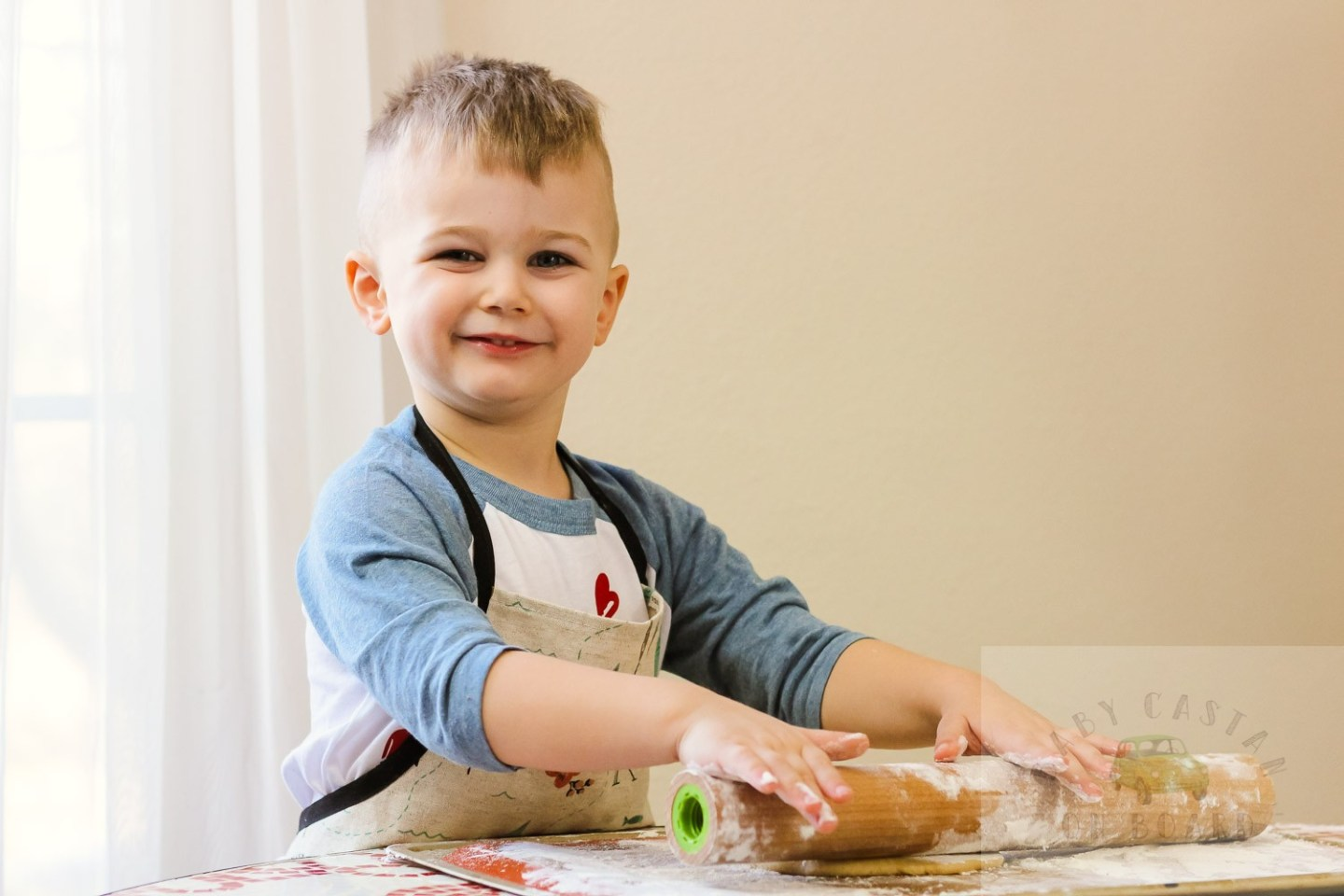 Valentine's Day Treats_toddler rolling dough
