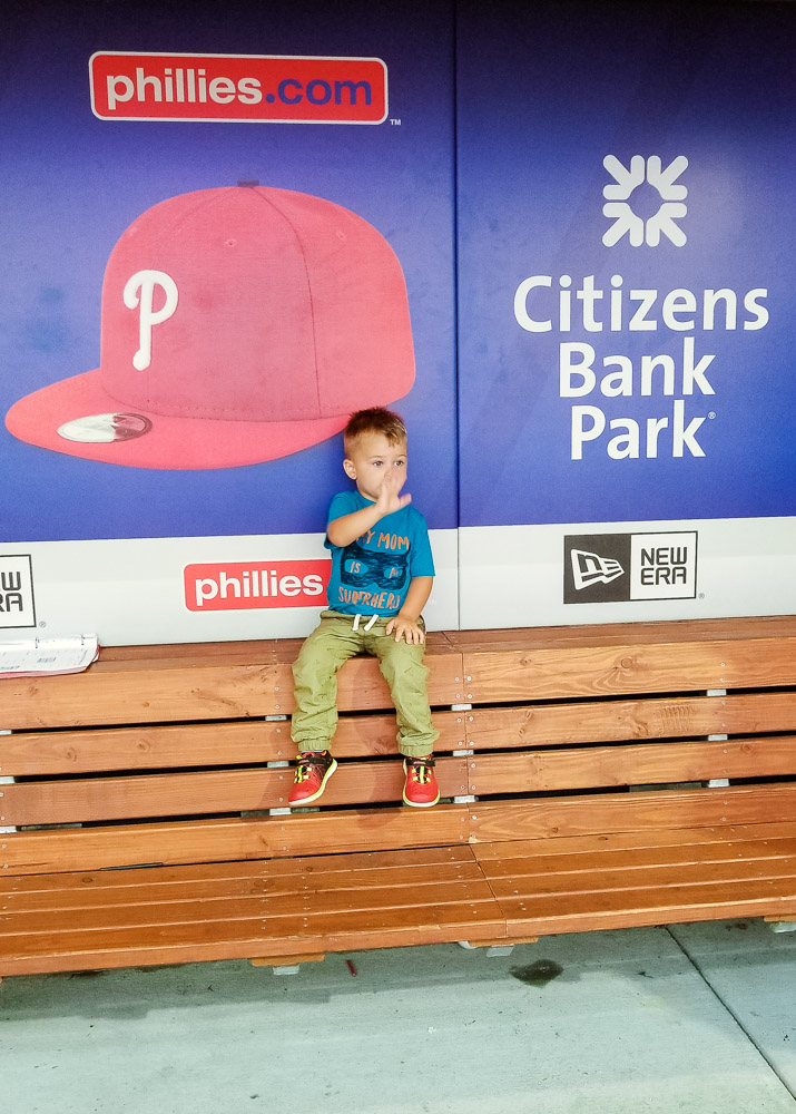 Philadelphia Phillies Stadium Tour with a toddler featured by top US lifestyle blog, Baby Castan on Board