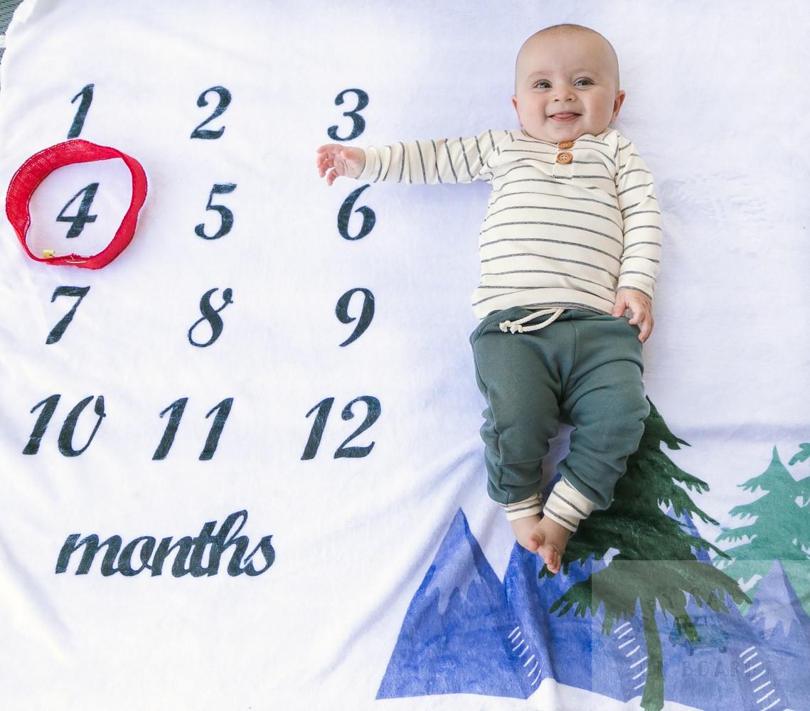 Nolan's Four Month Old Baby Update featured by top US mommy blog, Baby Castan on Board