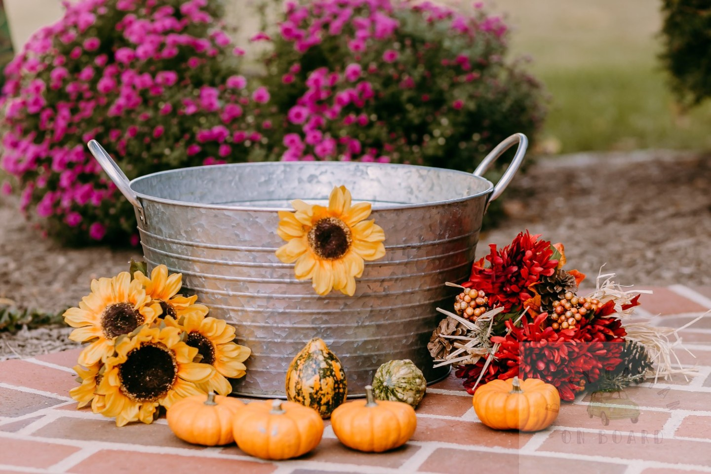 Fall Baby Photo Shoot Ideas featured by top US mommy blog, Baby Castan on Board: image of a pumpkin milk bath