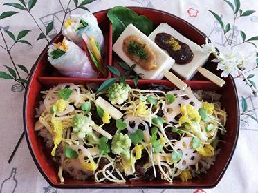 【ワンコインデトックスランチ】玄米ちらし寿司 春バージョン