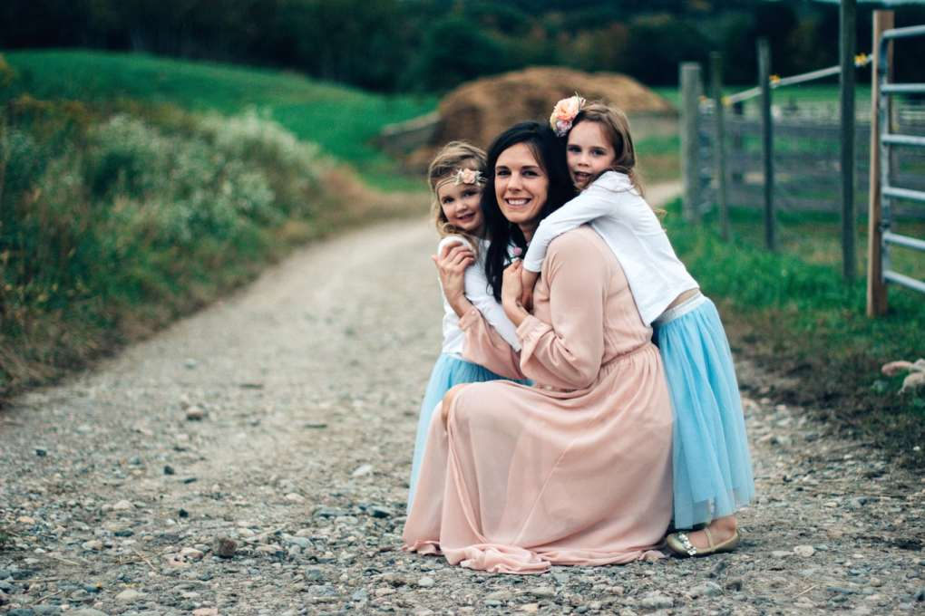Mother and her girls