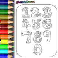 Ziffern, Nummern, Zahlen Ausmalbilder & Malvorlagen zum Zählen lernen