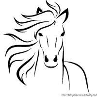Pferdebilder zum Ausmalen: Pferdeköpfe zum Ausdrucken