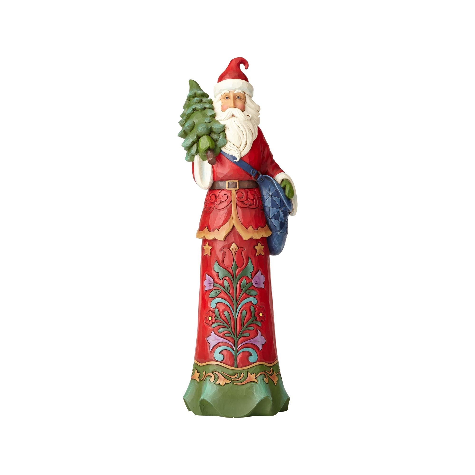 Enesco H7 Heartwood Creek Jim Shore Tall Santa W Tree