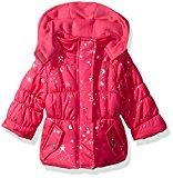 Pink Platinum Baby Girls Star Foil Puffer, Pink Glow, 18M