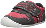 Carter's Every Step Boys' Stage 1 Crawl, Jamison-CB Sneaker, Red/Black, 3.0 M US (6-9 Months)