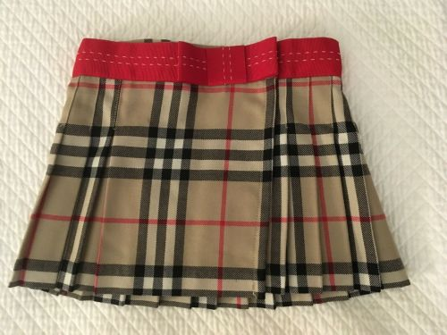 Burberry Baby Boys Wool Blend Nova Check Pants 18 Months Pull On Trousers Lined