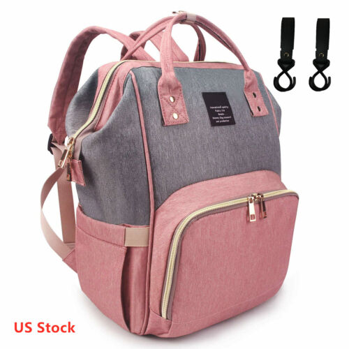 Mummy Mom Maternity Nappy Diaper Bag Large Capacity Baby Travel Backpack Handbag