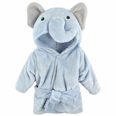 Baby Plush Animal Face Hooded Robe Uni, One Size, 0-9 Months