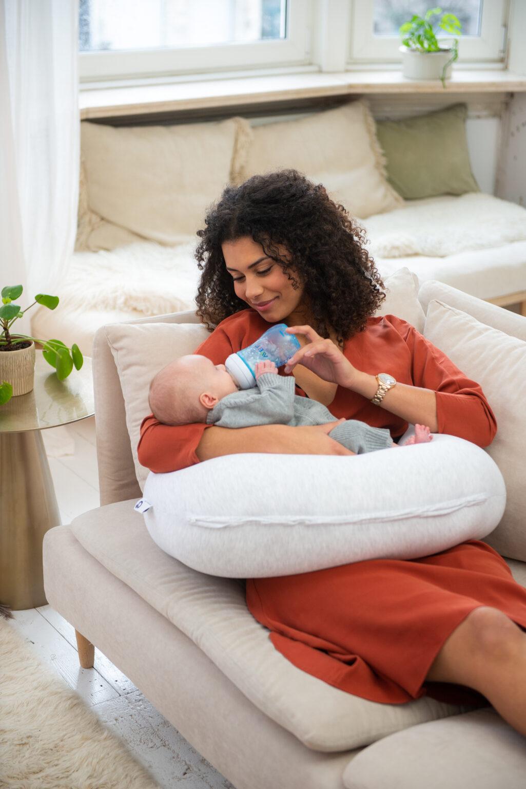 Coussin de maternité chiné blanc
