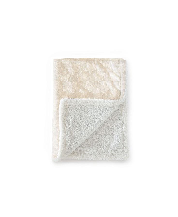 Couverture  Estrellas 100% polyester Beige 110*140 cm