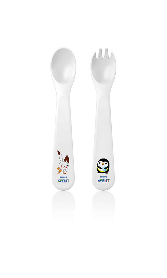 Toddler cuillère et fourchette 12m+