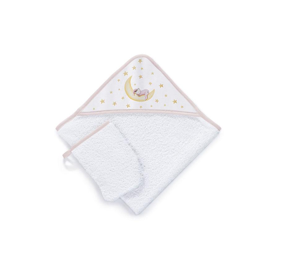 Sortie de bain 100% Cotton Brodée Très Chic Marlon Night Beige